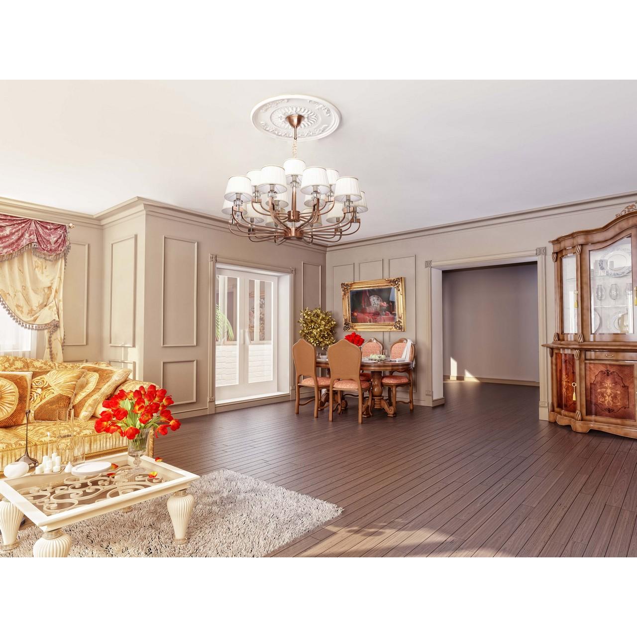 Торшер в интерьере классической гостиной фото